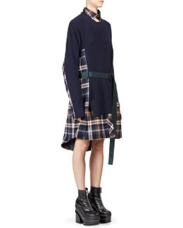 Knit Wool Flannel Dress