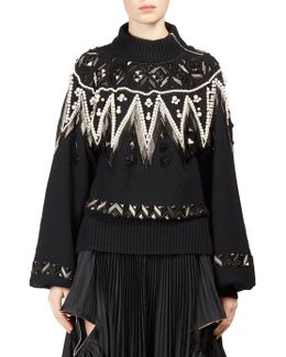 Wool Beaded Pullover