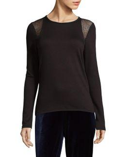 Clover Knit Long-sleeve Top