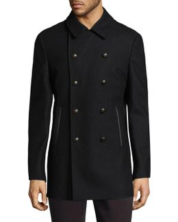 Pointed Collar Peacoat