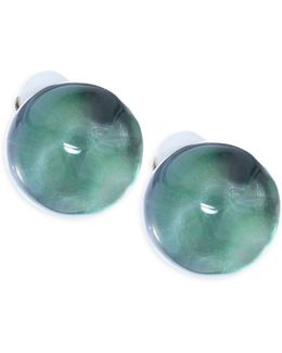Lucite Button Clip-on Earrings