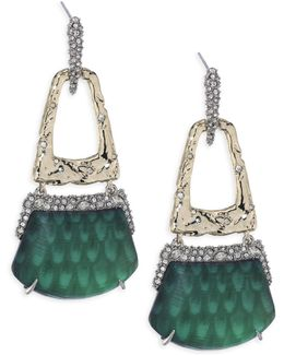 Lucite Rocky Buckle Swing Earrings