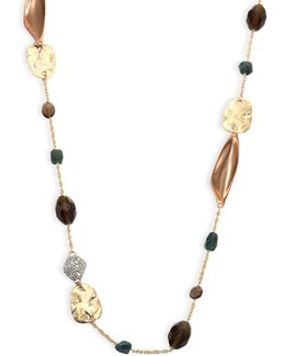 Elements Beaded Smoky Quartz, Green Labradorite & Crystal Necklace/42