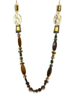 Elements Semi-precious Multi-stone Beaded Necklace/40