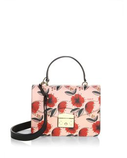 Floral Leather Clutch
