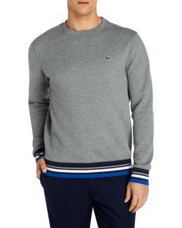 Stripe Cuffs And Hem Sweatshirt