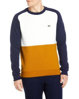 Block Knitted Sweatshirt