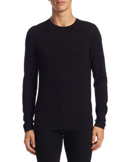 Allover Herringbone Sweater