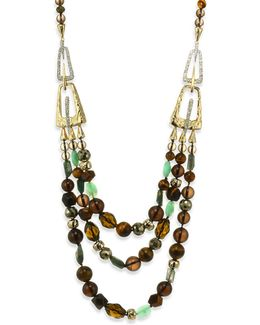Elements Abstract Buckle Beaded Semi-precious Multi-stone Necklace/26