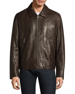 Outpost Leather Bomber Jacket