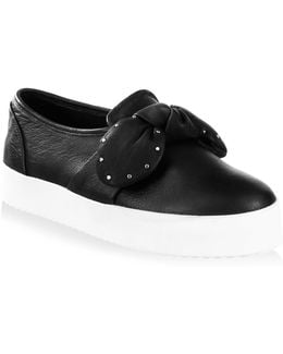 Stacey Studded Leather Skate Sneakers