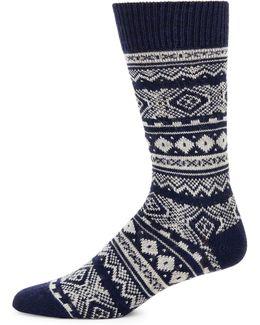 Fair Isle Patterned Socks