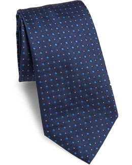 Diamond Patterned Silk Tie