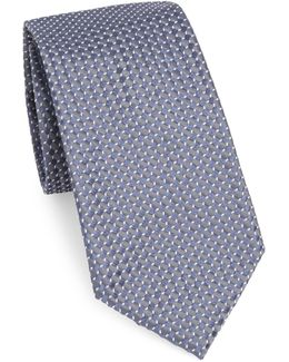 Micro-detailed Silk Tie