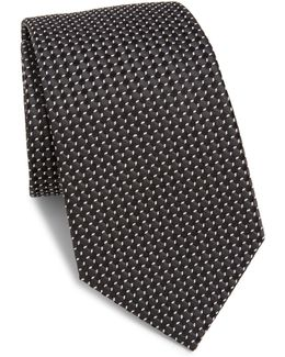 Micro-patterned Silk Tie