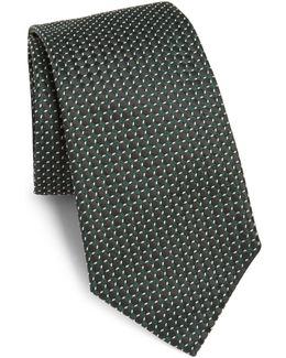 Stippled Pattern Silk Tie