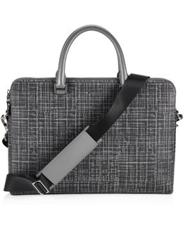 Patterned Leather Briefcase