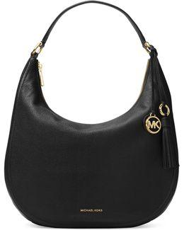 Tassel Leather Hobo Bag