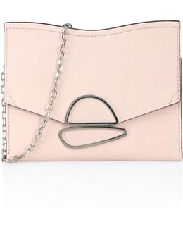 Small Curl Leather Chain Clutch