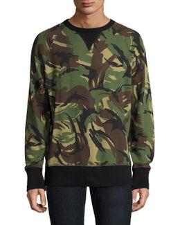 Allover Camo Cotton Sweater