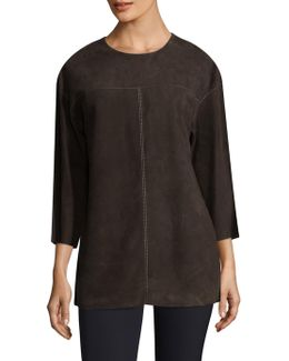 Divya Suede Blouse