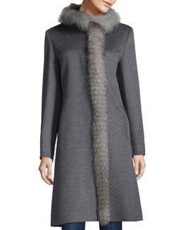 Fox Fur & Wool Coat