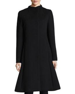 Pleated Wool Coat