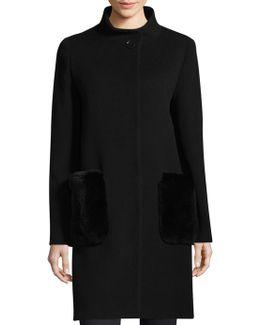 Stand Collar Fur Coat