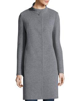 Cashmere Button-front Coat