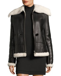Aviator Shearling Leather Jacket