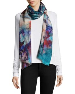 Abstract Floral Stole