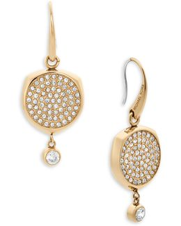 Beyond Brilliant Disc Earrings/goldtone