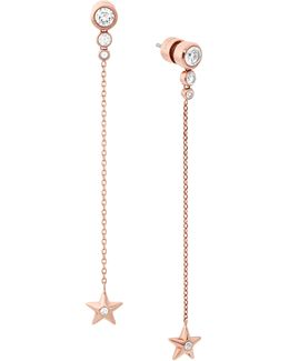 Celestial Crystal Star Drop Earrings