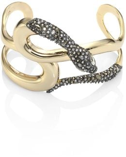 Elements Snake Crystal Cuff
