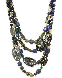 Elements Semi-precious Multi-stone Multi-strand Necklace