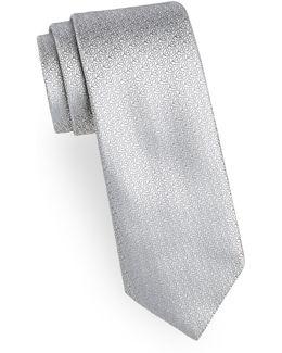 Flower Neat Silk Tie
