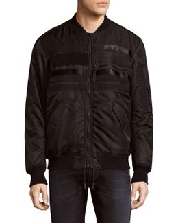Stitch Zipped Bomber Jacket