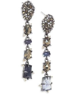 Elements Semi-precious Multi-stone Linear Earrings