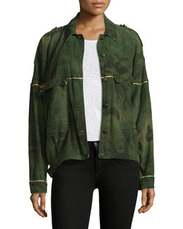 Slouchy Military Cotton Jacket