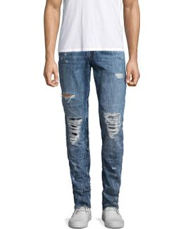 Rocco Ripped Cotton Skinny Jeans