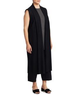 Shawl Long Wool Vest