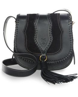 Whipstitch Leather Shoulder Bag