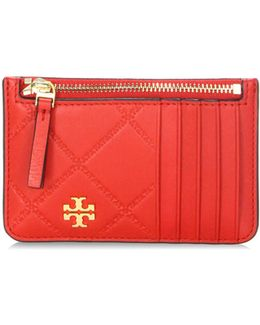 Georgia Top Zip Leather Card Case