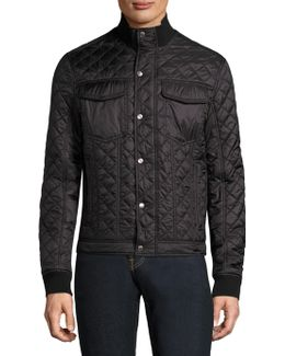Quilted High Neck Jacket