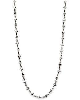 Fleur De Lis & Cross Necklace