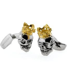 King Skull Cuff Links