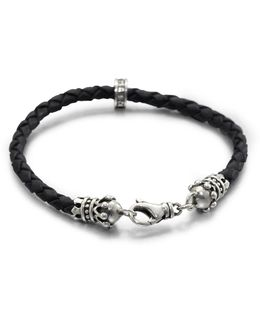 Leather Crown Bracelet
