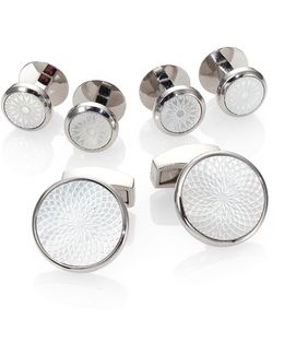 Mother Of Pearl Rotondo Guill Stud Set