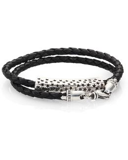 Stars Double-wrap Leather Bracelet