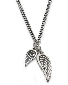 Double Wing Pendant Necklace